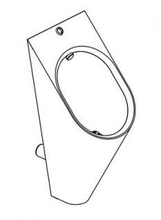 Franke Campus Wandpissoir CMPX538E aus Chromnickelstahl mit ovale Beckenform - Vorschau 3