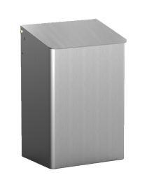 MediQo-line Abfallbehälter zur Wandmontage 15 Liter erhältlich in Weiß - Edelstahl oder Aluminum