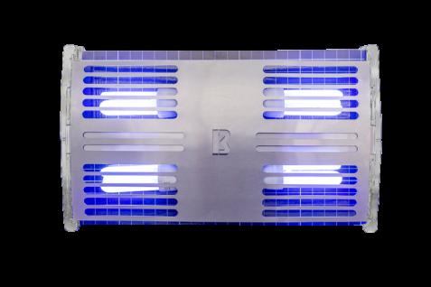 FliBlade 80 Insektenvernichter aus Edelstahl mit 4 x 20 Watt Eco Lampen