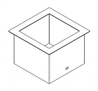 Franke Abfall Abwurfhülse für Tischmontage aus Chromnickelstahl 0, 8mm - Vorschau 3