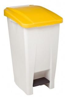 Rossignol fahrbarer Abfallbehälter mit Pedal 60L aus Polyethylen-Kunststoff - Vorschau 5