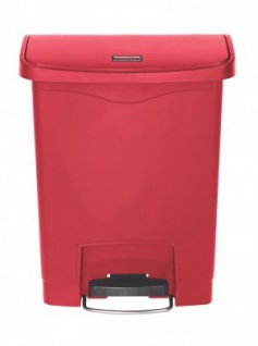 RUBBERMAID Kunststoff-Tretabfallbehälter mit Pedal an der Breitseite 30 L - Vorschau 4
