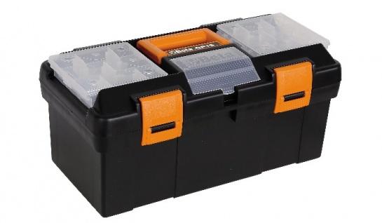 Beta CP15 Werkzeugkasten aus Kunststoff mit Einsatz 445 x 240 x 250 mm, leer