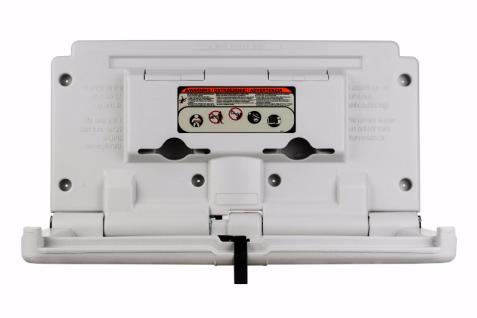Baby-Wickelstation Kunststoff Horizontal mit Sicherheitsgurt Perlweiss (RAL 7047)