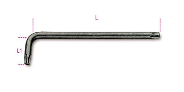 Beta Stiftschlüssel, gebogen, für Sicherheitsschrauben Tamper Resistant Torx® 97RTX