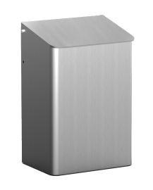 MediQo-line Abfallbehälter zur Wandmontage 6 Liter erhältlich in Edelstahl oder Aluminium