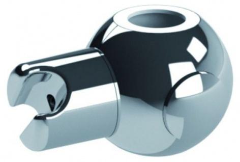 FRELU - Brauseaufsteckschieber aus Kunststoff für Standard Brause - Weiß / Chrom