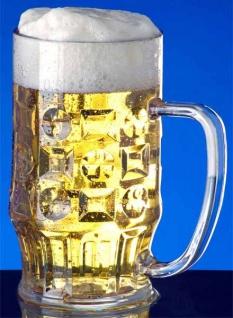 SET 12 St. Bier Krug 0, 5l SAN Glasklar Kunststoff Spülmaschinen fest, lebensmittelecht - Vorschau 3