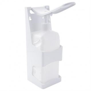 Desinfektionsmittel- oder Seifenspender mit Armhebel 1L Nachfüllbar für Desinfektionsmittel, aus Kunststoff