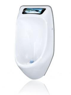 URIMAT ecovideo Wasserloses Urinal in weiß mit Videodisplay - Vorschau 1