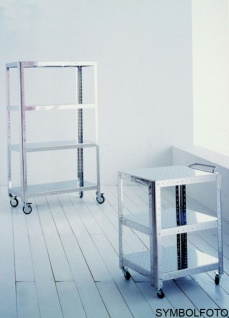 G-Line Pro Regal Quadra S - Bathroom aus poliertem Edelstahl 1.4016 mit Räder - Vorschau 2