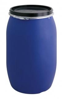Tonne aus Kunststoff 120 Liter Blau, Schwarz