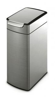Simplehuman Slim Touch-Bar Bin 40 Liter aus Edelstahl