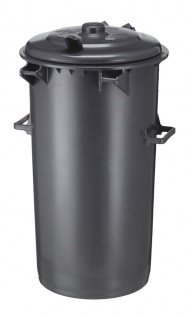 Kunststoff Mülleimer 110 Liter Dunkel Grau