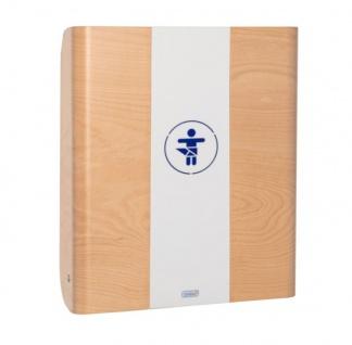 Wandwickeltisch aus Holz in der Farbe Buche mit Mittelteil aus Metall KAWAmaxi von Timkid