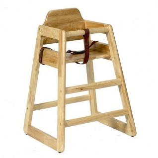 Stapelbare Kinder Hochstuhl Holz - in Natur und Walnuss - Vorschau 1