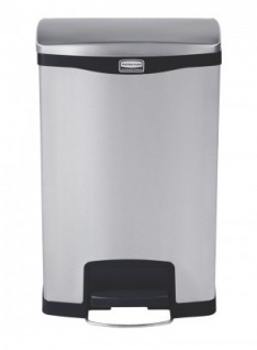 RUBBERMAID Slim Jim® Metall-Tretabfallbehälter mit Pedal an der Breitseite 50 L - Vorschau 2