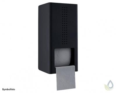 Proox® ONE dark passion DP-300 Doppelter WC-Rollenhalter aus Aluminium schwarz anodisiert