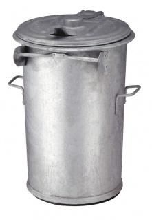 Stahlverzinkter feuerfester Abfallbehälter 110 Liter