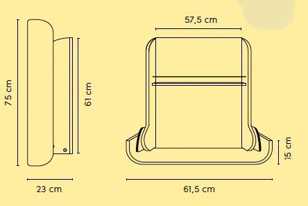 Wickeltisch zur Wandmontage Kawaform midi von Timkid - Vorschau 5