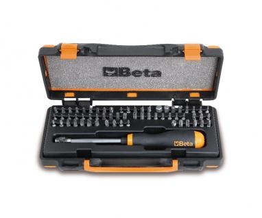 Beta Sortiment mit 61 Schraubeinsätze und magnetischer, schnellauslösender Schraubeinsatzhalter 861/C61P