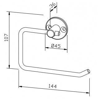 Wagner-EWAR Toilettenpapierhalter PC250 Edelstahl - Vorschau 2