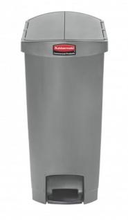 RUBBERMAID Slim Jim® Kunststoff-Tretabfallbehälter mit Pedal an der Schmalseite 50 L - Vorschau 3