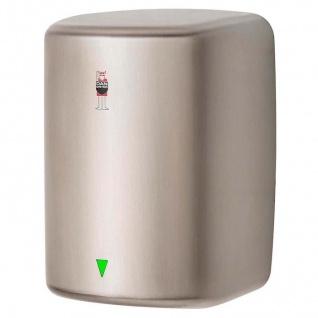 Dan Dryer Turbo Warmlufthändetrockner aus gebürstetem Edelstahl mit 1600 Watt