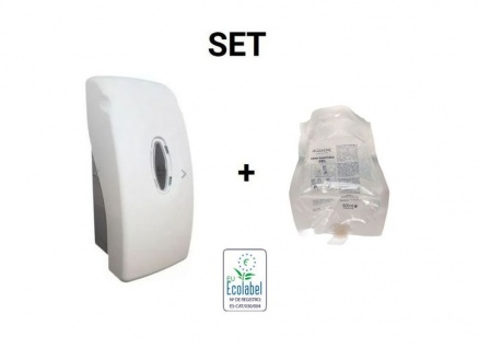SET Desinfektionsmittelspender + 800ml Desinfektionsmittel Nachfüllkartusche von Proandre