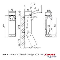 Ophardt ingo-man® plus 1415995/1417024 Seifen- Desinfektionsmittelspender (1000ml) - Vorschau 4