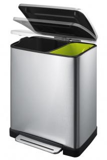 Recycling-Tritt-Mülleimer E-Cube 10+9 Liter, EKO - Vorschau 2