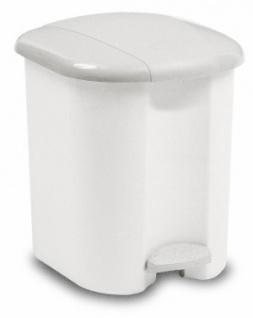 RUBBERMAID Treteimer 15 Liter mit Kunststoffeinsatz Weiss