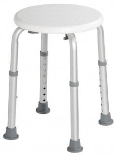 Rossignol Biska höhenverstellbarer Hocker mit weißer Sitzfläche aus Polyethylen