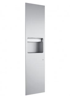 Wagner-EWAR Kombination Papierhandtuchspender 750Blatt mit Abfallbehälter 13l WP610 Edelstahl