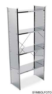 Graepel High Tech erstklassiges H2 Regal aus silber lackiertem Stahl