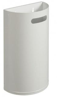 Rossignol Arkea robuster und abnehmbarer Abfallkorb 40 Liter zur Wandmontage