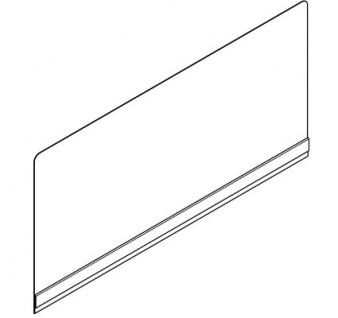 Franke aufsteckbare Rückwand für Wandausgussbecken aus Edelstahl mit Konsolen - Vorschau 3