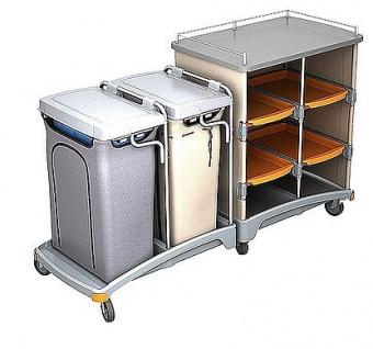 Splast Hotelwagen mit Regal, Abfallsackhalter 120l und Leinenbeutel 120l - Vorschau 2