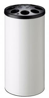 Rossignol Multigob weißer Bechersammler aus Stahl mit oder ohne Abfallkorb