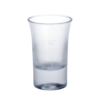 20er Set Schnapsglas 2cl B52 SAN gefrostet aus Kunststoff wiederverwendbar