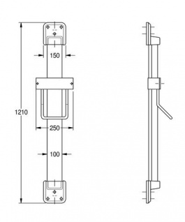 Franke Aluminium Höhenverstellung ARTH101 mit Kristallspiegel für Haartrockner - Vorschau 2