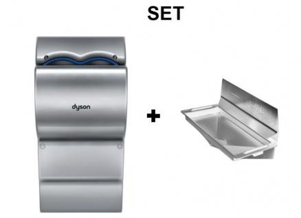 SET Dyson Airblade dB Händetrockner AB14 + DripTray Tropfschale + Wandschutzblech