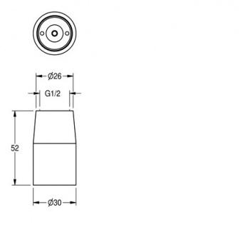 Franke Düsenbrause DN 15 mit automatischer Wassermengenregulierung aus Messing - Vorschau 2