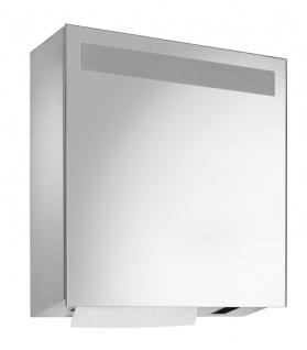 Wagner-EWAR Spiegelschrank mit Sensor- Seifen- und Handtuchspender WP600e Edelstahl