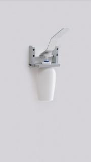 Desinfektionsmittelspender aus Aluminium zur Wandmontage mit / ohne Flasche - Vorschau 5