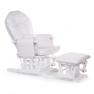 Childhome Stillstuhl rund mit Fußstütze - Weiß - GLCHRW