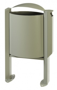 Rossignol Arkea Abfallkorb 40L aus korrosionsgeschütztem Stahl mit Ascher 3L