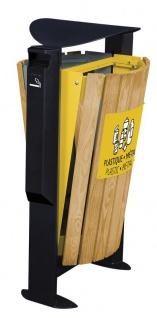 Rossignol Arkea Abfallbehälter 2 x 60L aus Holz mit Ascher 3L in 3 Farben erhältlich