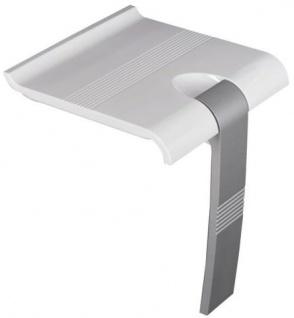 Duschklappsitz mit Bodenstütze zur Wandmontage - 150kg - Bodenstütze