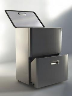 Graepel High Tech hochwertiges Mülleimer-Trennsystem Five aus gebürstetem Edelstahl - Vorschau 3